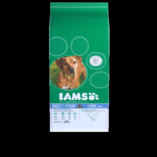 IAMS kutyatáp felnőtt, nagy termetű kutyáknak, csirkeshúsban gazdag 12 kg
