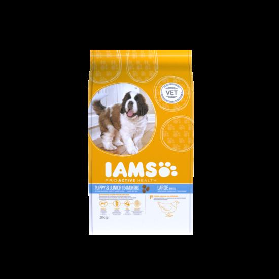 IAMS kutyatáp kölyök, nagy termetű kutyáknak, csirkehúsban gazdag 3 kg