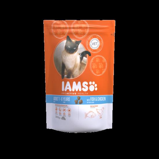 IAMS macskaeledel felnőtt cicáknak, tengeri hallal és csirkével 300 g