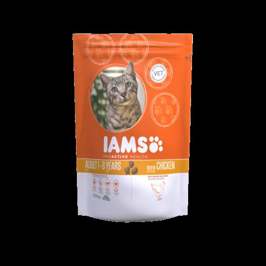 IAMS macskaeledel felnőtt cicáknak, csirkehúsban gazdag 300 g