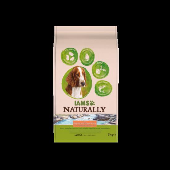 IAMS Naturally Dog felnőtt kutyaeledel észak-atlanti lazaccal 7kg