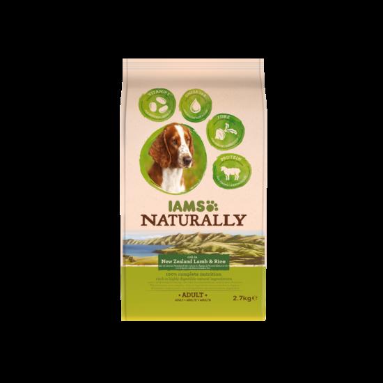 IAMS Naturally Dog felnőtt kutyaeledel új-zélandi bárányhússal 2,7kg
