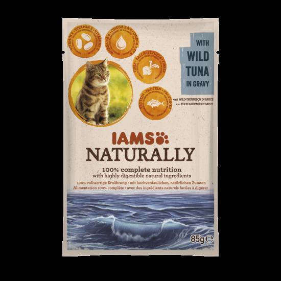 IAMS Naturally Cat vadvízi tonhal falatok, szószban 85g